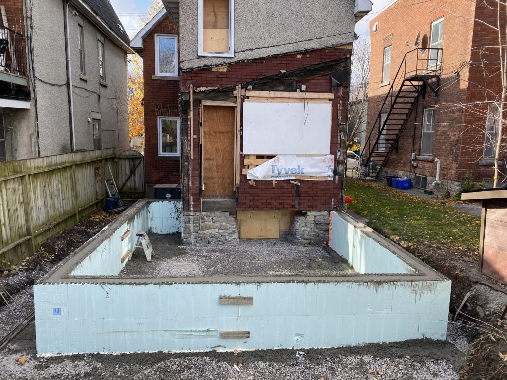ICF foundation construction in Ottawa and Nepean